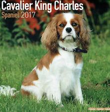 CAVALIER KING CHARLES SPANIEL 2017 KALENDER NEU & OVP OFFICIAL SQUARE CALENDAR