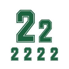 6pcs Green Iron-On Heat Transfer Vinyl Jersey Number For Sports Shirt DIY Part