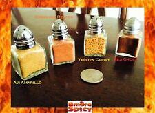 4x Reaper, Red & Yellow Ghost Pepper Aji Amarillo HOT Chili powder shakers .5 OZ