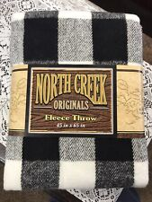 "New listing New North Creek Plaid Fleece Soft Throw Blanket, 45"" x 65"" Washable Acrylic"