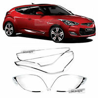 Chrome Head Lamp + Tail Lamp Cover Molding Set for HYUNDAI 2012 - 2017 Veloster