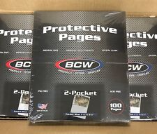 """Box of 100 BCW 2-Pocket Photo Pages Holds two 5""""x7"""" photographs or cards  (#767)"""