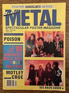 Blast! Metal Poster Magazine April 1988 Poison, Motley Crue, W. Axl Rose
