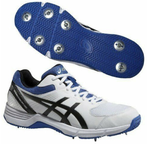 ASICS GEL 100 NOT OUT MENS CRICKET TRAINERS FOOTWEAR WHITE UK8 / 42.5 #CM1