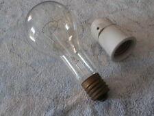 Grosse Ampoule Lampe Design industriel à Filaments 500 W + Douille Porcelaine