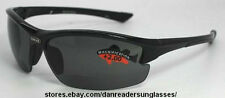 POLARIZED Motorcycle Sunglasses with Hidden Bifocal READERS 1.5x Mag. HANDSOME