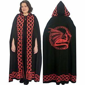 Ritual Cotton Cloak Celtic Dragon Red
