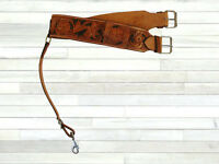 HEAVY DUTY WESTERN REAR CINCH TOOLED LEATHER ROPING RANCH SADDLE BACK GIRTH