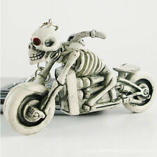 2017 moto car biker Purse Bag Rubber Skulls KeyChain Keyring Gift car Key Chain