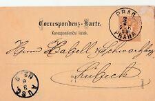 Correspondenz-Karte von Prag nach Lübeck aus dem Jahr 1889 wertvoll