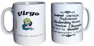 Virgo Star Sign Mug. Zodiac Mug With Description. Birthday, Christmas Gift Mugs