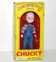 "Chucky Living Dead Doll Toy 11"" No Knife Mezco Toyz Horror Childs Play Good Guy"