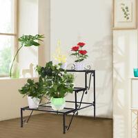 3-Tier Flower Plant Stand Rectangular Shelf Step Design Flower Stand Storage US