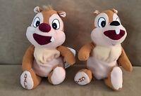 "Chip & Dale 6"" Walt Disney World Plush Stuffed Animal store chipmunks pair lot"