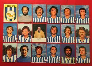 LOTTO DI 18 FIGURINE CALCIATORI LAMPO 1977-78 SQUADRA COMPLETA PESCARA