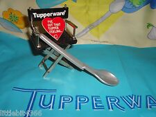 VINTAGE TUPPERWARE SILVER GRAY HANG ON BABY OR CONDIMENT SPOON # 1208