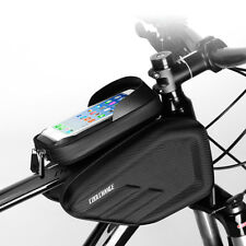 Waterproof Bike Frame Bag Front Tube Pannier Cycling Holder Double Sides Pouch