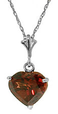1.15 Carat Silver Necklace Natural Heart Garnet