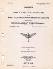 1939 AAC GRUMMAN OA-9 GOOSE AMPHIBIAN AIRCRAFT PILOTS FLIGHT MANUAL HANDBOOK-CD