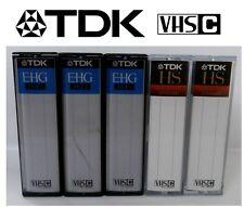 TDK VHS-C Video Cassettes 45 Mins.  PAL.  Joblot of 5  - USED
