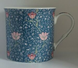 Heath McCabe William Morris Fine China Blue Mug Chintz Tudor Roses Floral