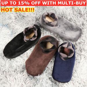 Mens Winter Warm Indoor Thicken Bed Sock Non Slip Slipper Thermal Floor Socks