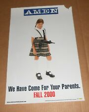 Amen We Have Come For Your Parents 1999 Poster with Machine Gun 12x18 Rare