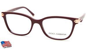 NEW D&G Dolce& Gabbana DG 5036 3091 Bordeaux EYEGLASSES FRAME 51-17-140mm Italy