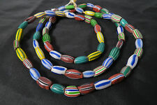 Alte Glasperlen 86cm Old Venetian mixed T melon seed trade beads Afrozip