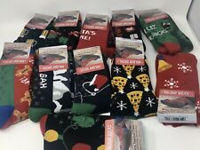 MUK LUK Men's Christmas Socks Non-Slip Soles - VARIOUS STYLES Size 9-12 -NWT!