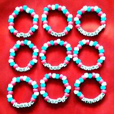 Personalised Handmade Bracelets Party Bags Medical Alert Gift Boy Girl