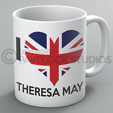 I Love Heart Theresa May Mug PM Tory Party Tories Conservatives Brexit Gift