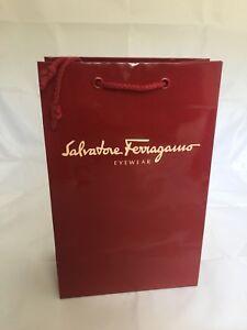 New Authentic Salvatore Ferragamo Gift Bag Eyewear Paper Bag Shopping Gift 1 Bag