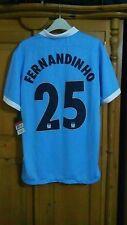 BNWT Manchester City Camiseta De Fútbol Para Hombre número 25 Fernandinho Talla L