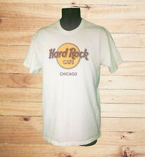Hard Rock Cafe Brand Men's Chicago SS White T-Shirt w Classic Logo! Size M. NWOT