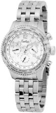 Engelhardt Herrenuhr Silber Chronograph Datum Edelstahl Automatik X-386722028019