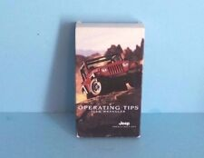 00 01 2000 2001 Jeep Wrangler Operating Tips (VHS) INSTRUCTIONAL VIDEO