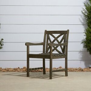 Malibu Outdoor Patio Wood Garden Armchair