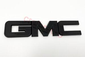 GMC Canyon Sierra 1500 2500HD 3500HD Tailgate Rear Emblem Badge All Black