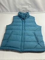 Mossimo Women's Teal Blue Zip Up Puffer Sleeveless Jacket Vest Size L