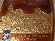 PLACCA ADAC MSC Tha-Bad Nauheim 20. INT. destinazione viaggio 1982 AUTO CORSA