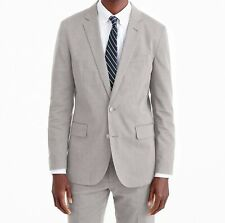 NWT J Crew Ludlow Slim Fit Unstructured Suit in Stretch Cotton Grey 38R W32x30