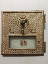 Vintage Brass Us Post Office Box Door Antique Usps With Glass No Combination