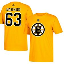Brad Marchand NHL Boston Bruins Adidas Men's Gold Jersey T-Shirt