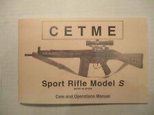 CETME Sport Rifle, Model S, 7.62 MM NATO by CETME, undated, paperback, reprint