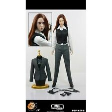 """POP TOYS M16 FEMALE AGENT IN GRAY OUTFIT 12"""" FIGURE"""
