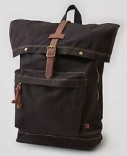 AMERICAN EAGLE OUTFITTERS WAXED CANVAS RUCKSACK - BLACK BRAND NEW WITH TAG