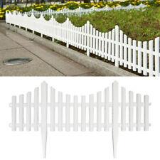 12/24pack Plastic Fence Panel Garden Border Landscape Edging Yard Fencing Decor