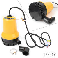 DC 24V Submersible Water Pump 1620GPH 6000L/H Clean Dirty Pool Pond Flood Drain