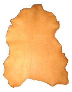 Thin 1.5 oz Golden Yellow Sheepskin Leather Hide Sheep Skins